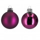Bauble D80mm, 15 pieces / box, berry dull / berry